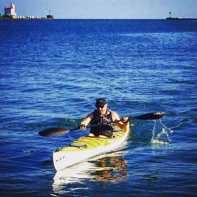 Scott....kayak leg of Lighthouse Tri Team ER relay