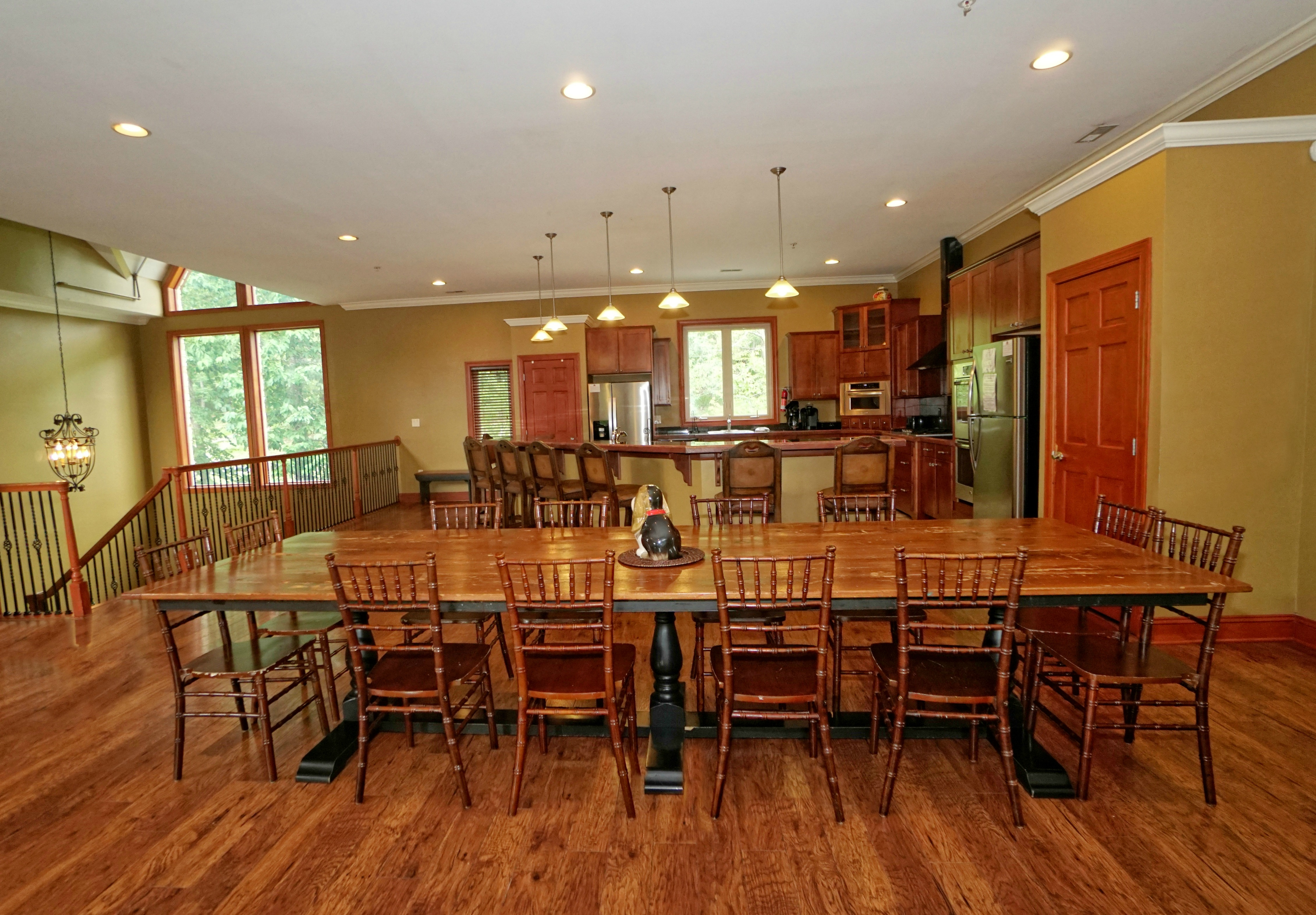 dining and kitchen rooms
