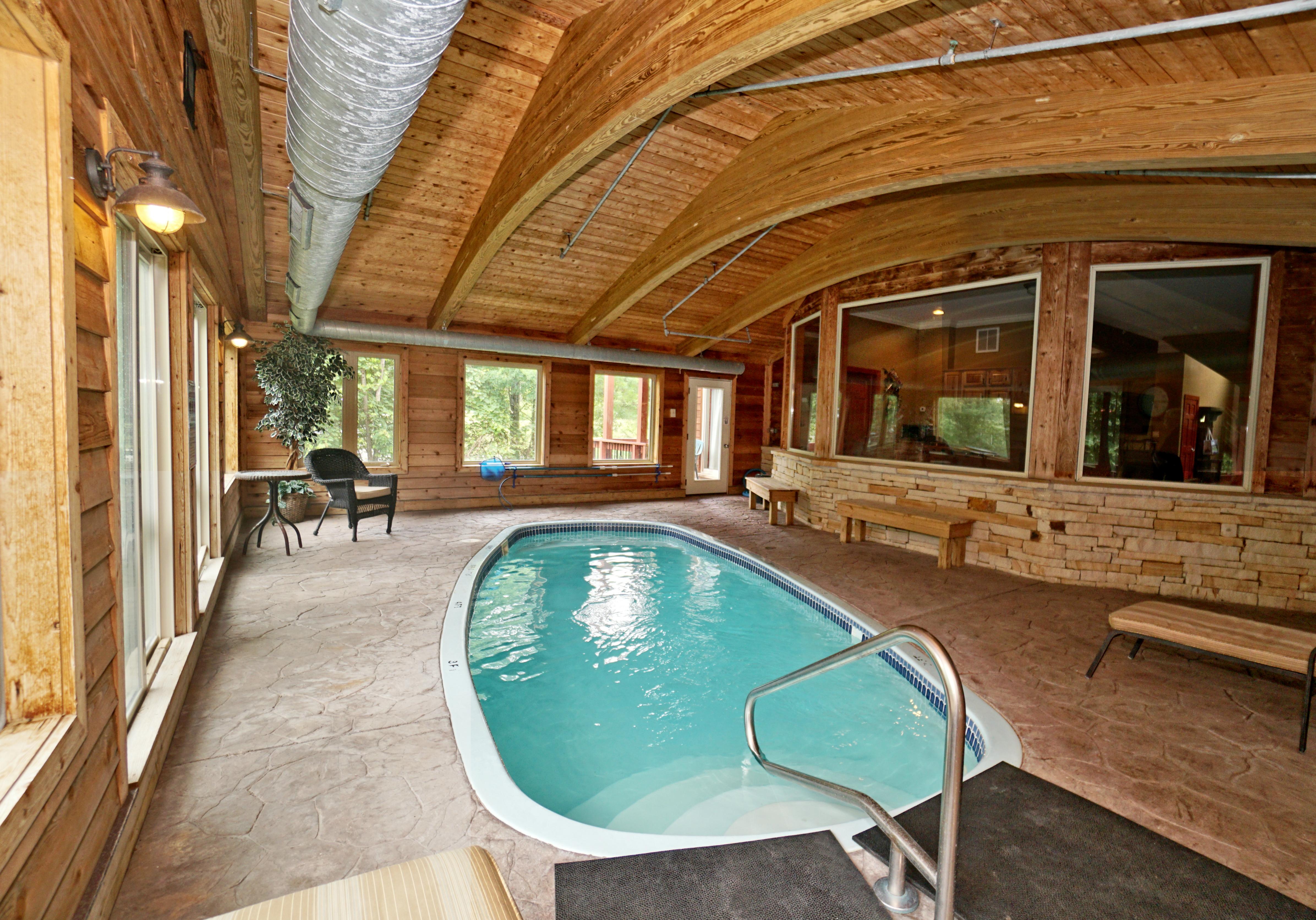 lower level heated pool room