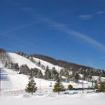 ski slopes at wisp resort during the winter months in deep creek lake