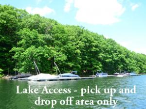 our dock slip is just minutes away