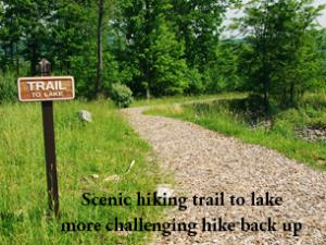 hike through the community to see the lake