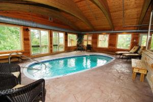 splash around in the indoor pool