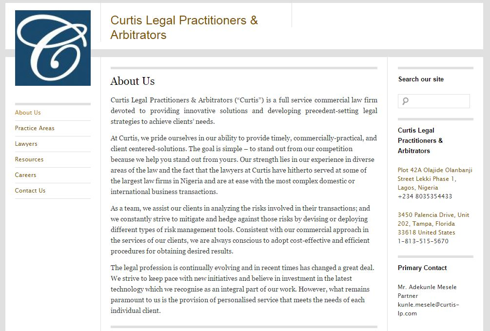 Curtis Legal Practitioners and Arbitrators