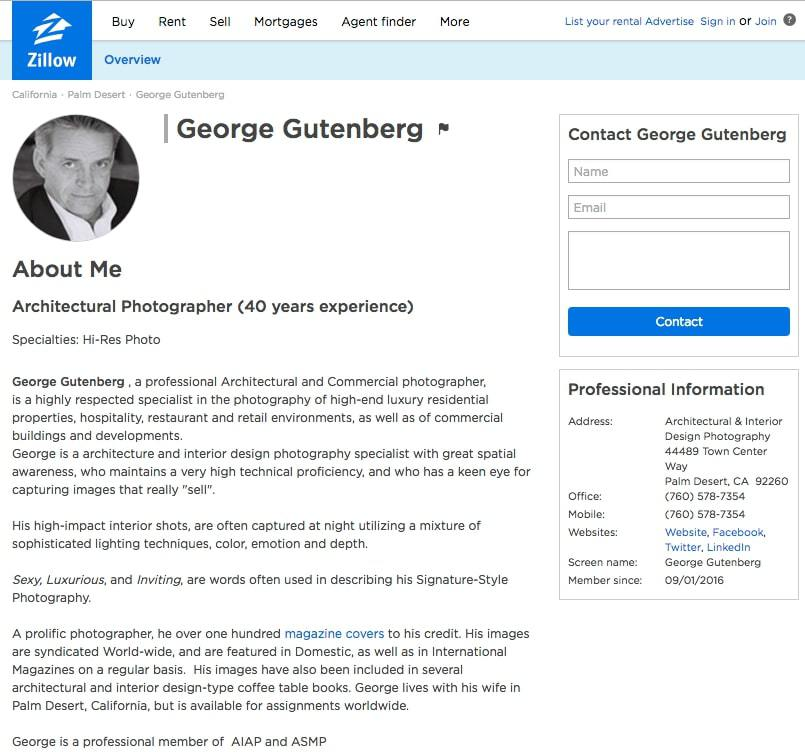 Gutenberg has a profile on Zillow.