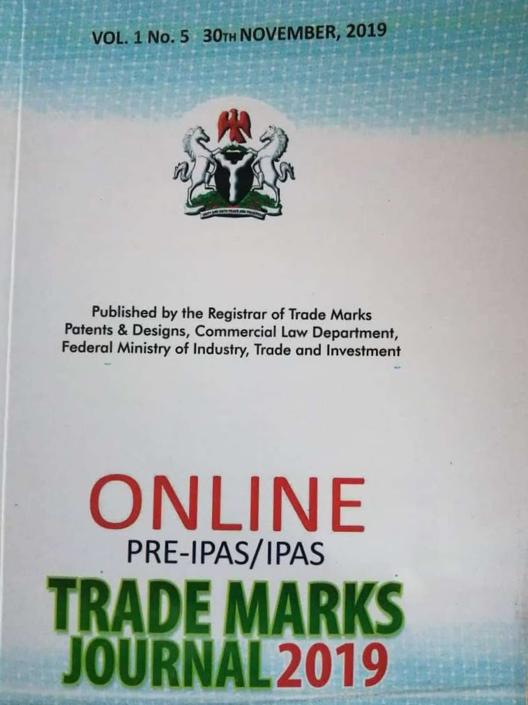 IPAS Trademarks Journal Nigeria