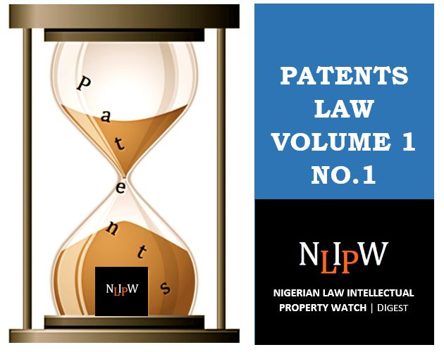 Patents Vol. No. 1