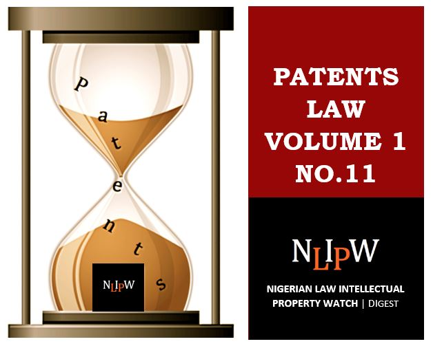 Patents Vol. 1 No. 11