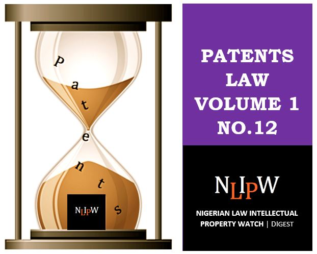 Patents Vol. 1 No. 12
