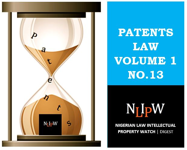 Patents Vol. 1 No. 13