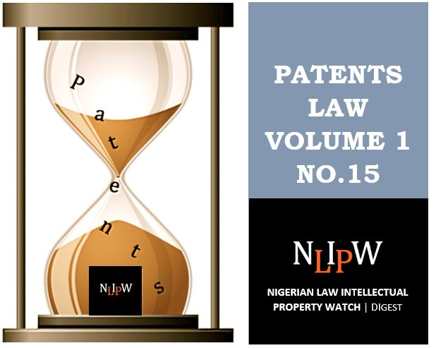 Patents Vol. 1 No. 15