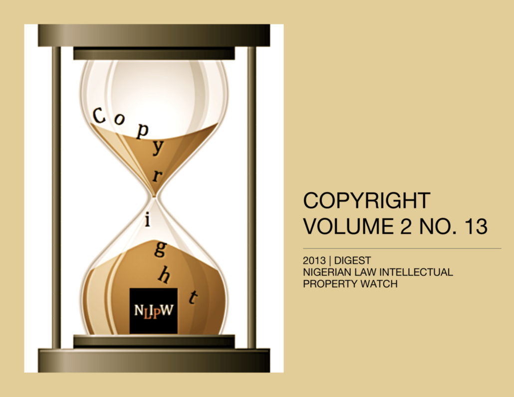 Copyright Vol. 2 No. 13