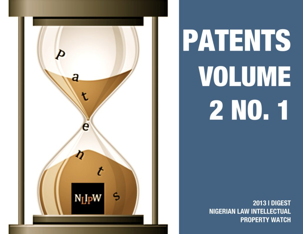 PATENTS VOL. 2 NO. 1