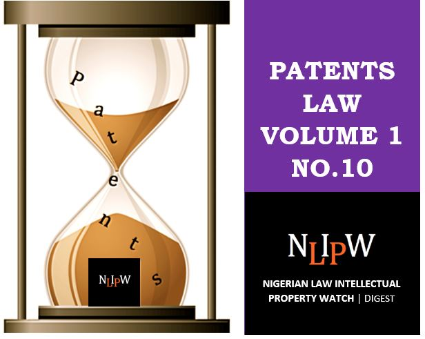 Patents Vol. 1 No. 10