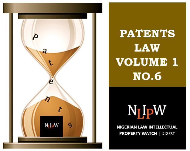 Patents Vol. 1 No. 6