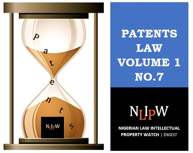 Patents Vol. 1 No. 7