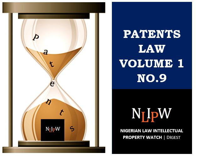 Patents Vol. 1 No. 9