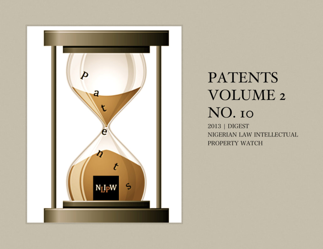 PATENTS VOL. 2 NO. 10