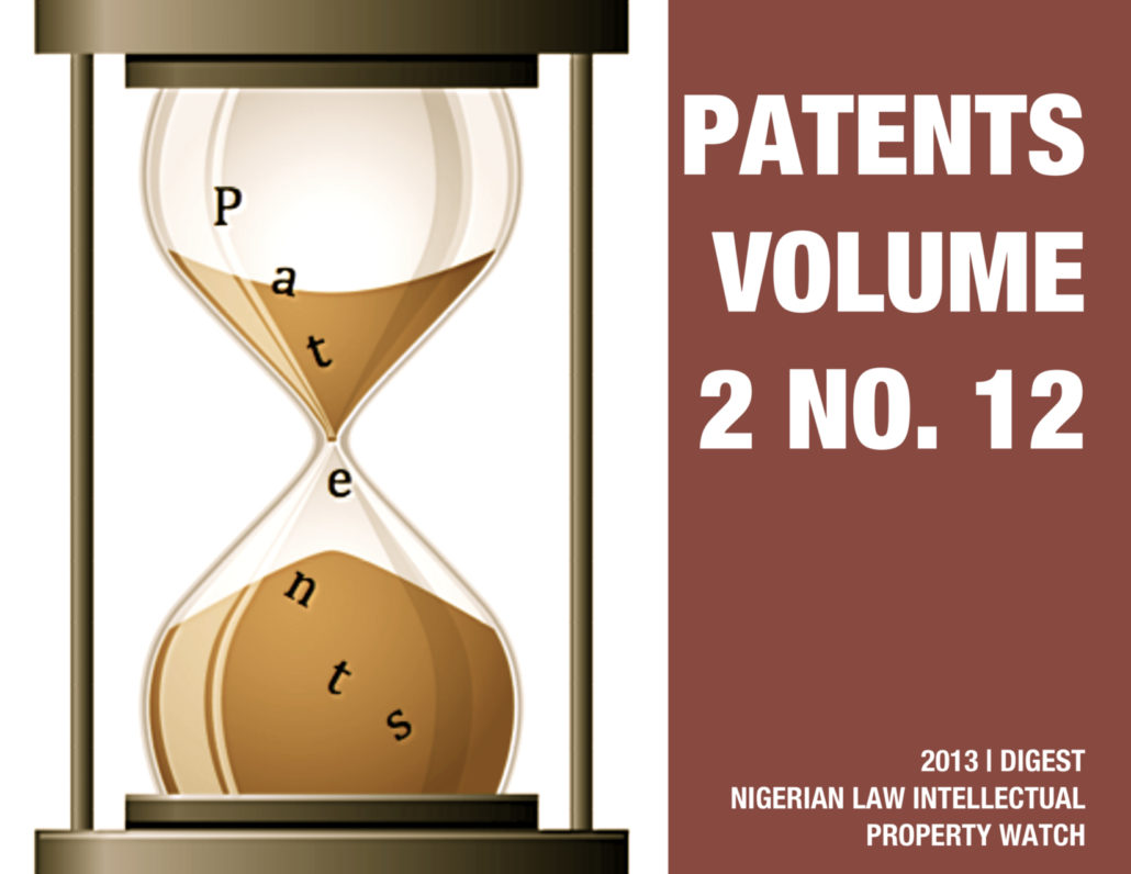 PATENTS VOL. 2 NO. 12
