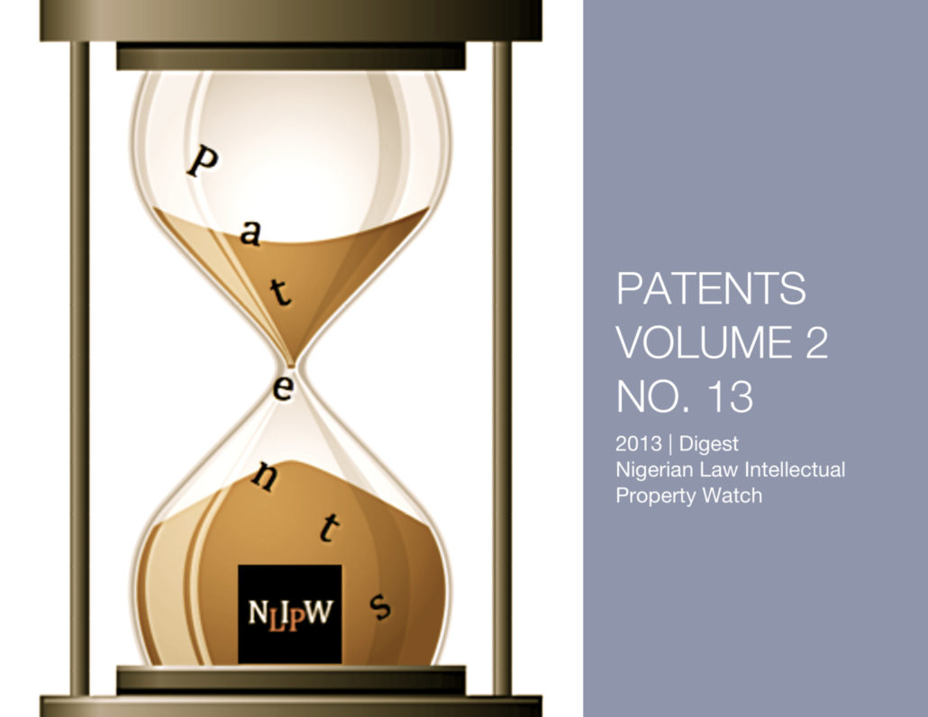 PATENTS VOL. 2 NO. 13