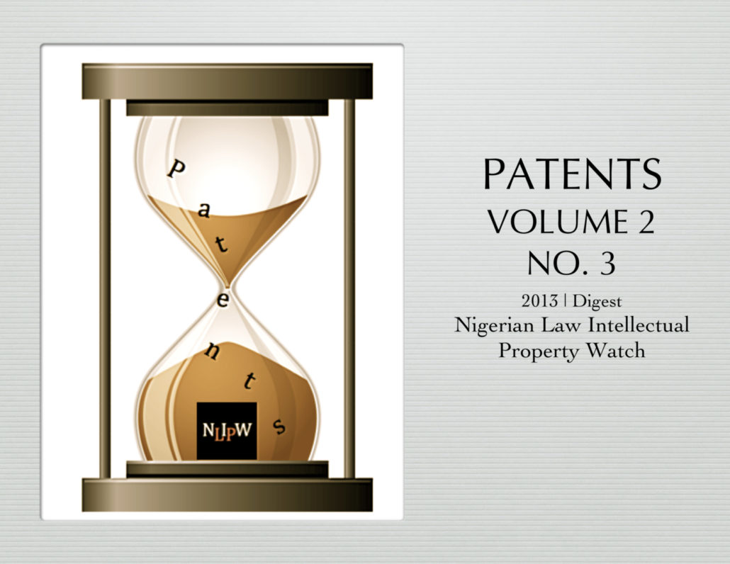 PATENTS VOL. 2 NO. 3