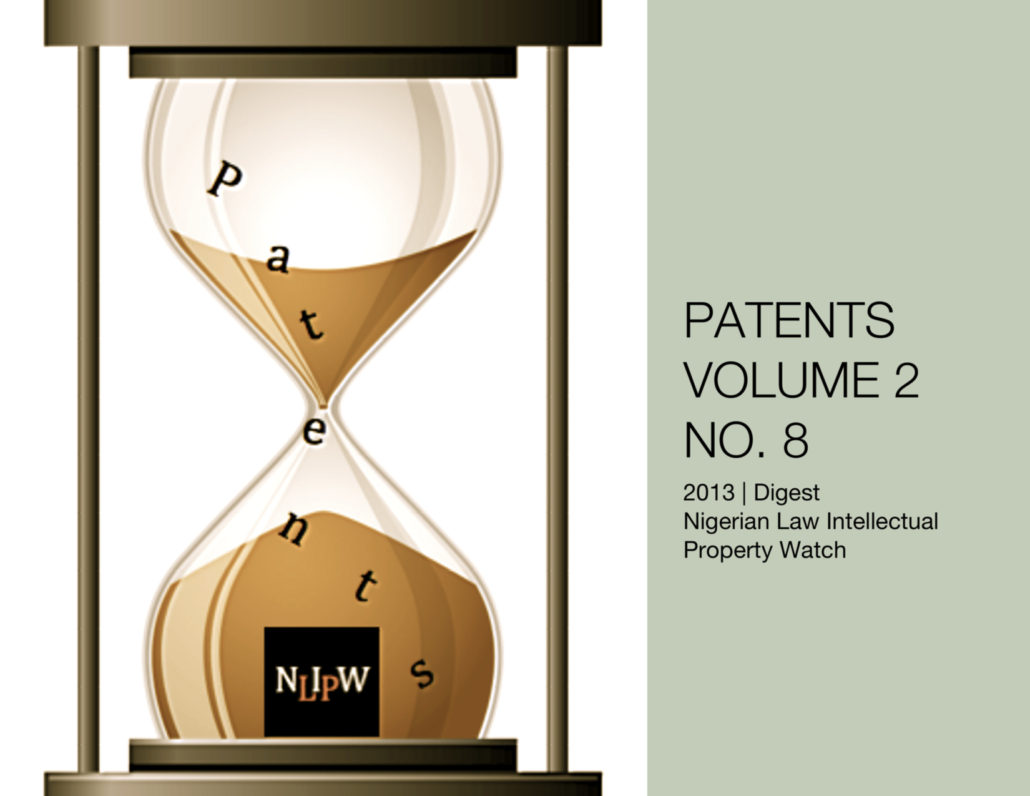 PATENTS VOL. 2 NO. 8