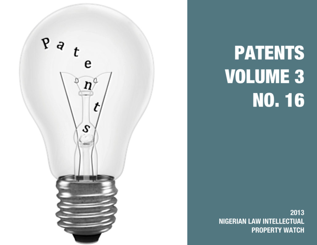 PATENTS VOL. 3 NO. 16