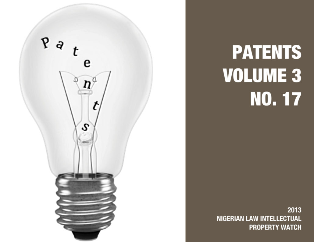 PATENTS VOL. 3 NO. 17