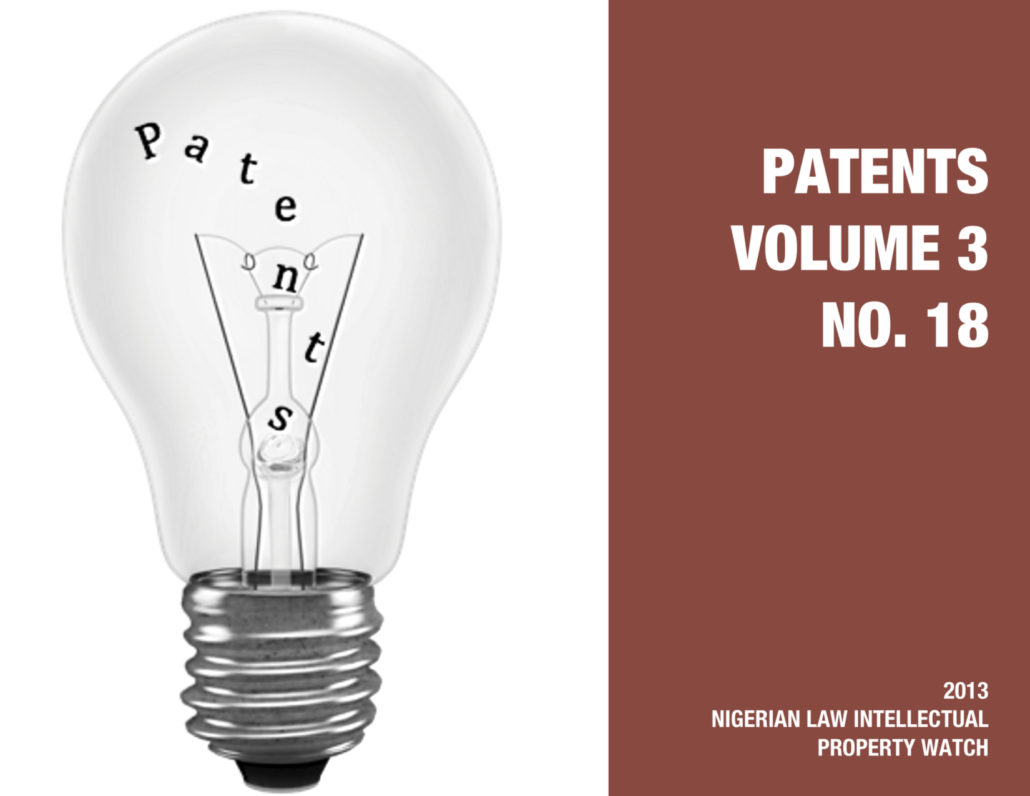 PATENTS VOL. 3 NO. 18