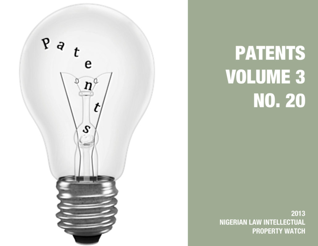 PATENTS VOL. 3 NO. 20