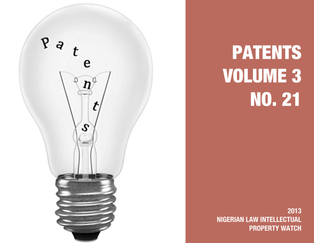 PATENTS VOL. 3 NO. 21