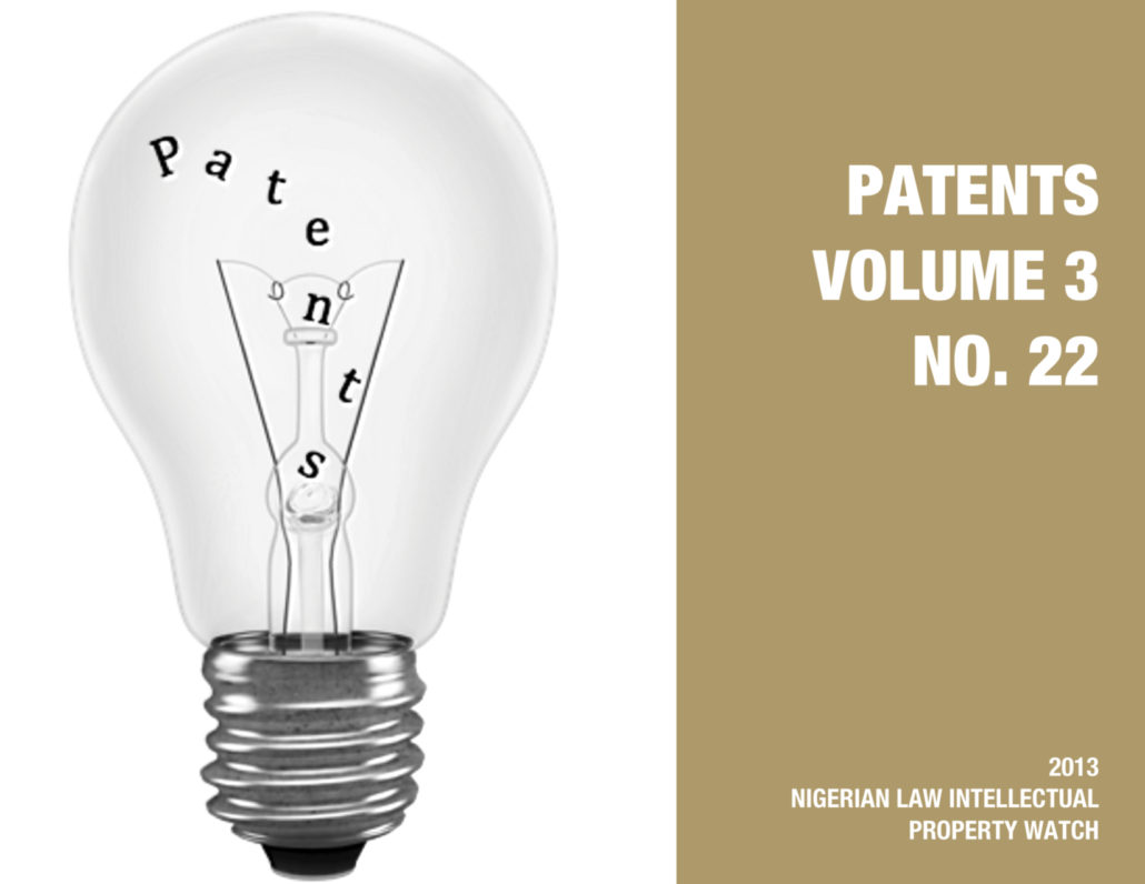 PATENTS VOL. 3 NO. 22