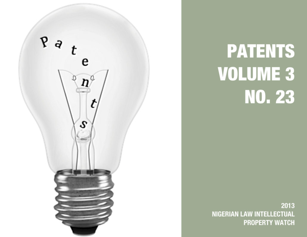 PATENTS VOL. 3 NO. 23