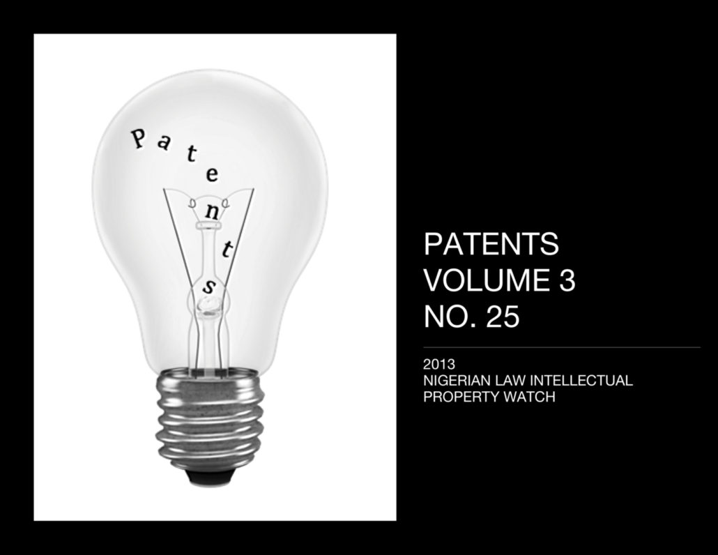 PATENTS VOL. 3 NO. 25