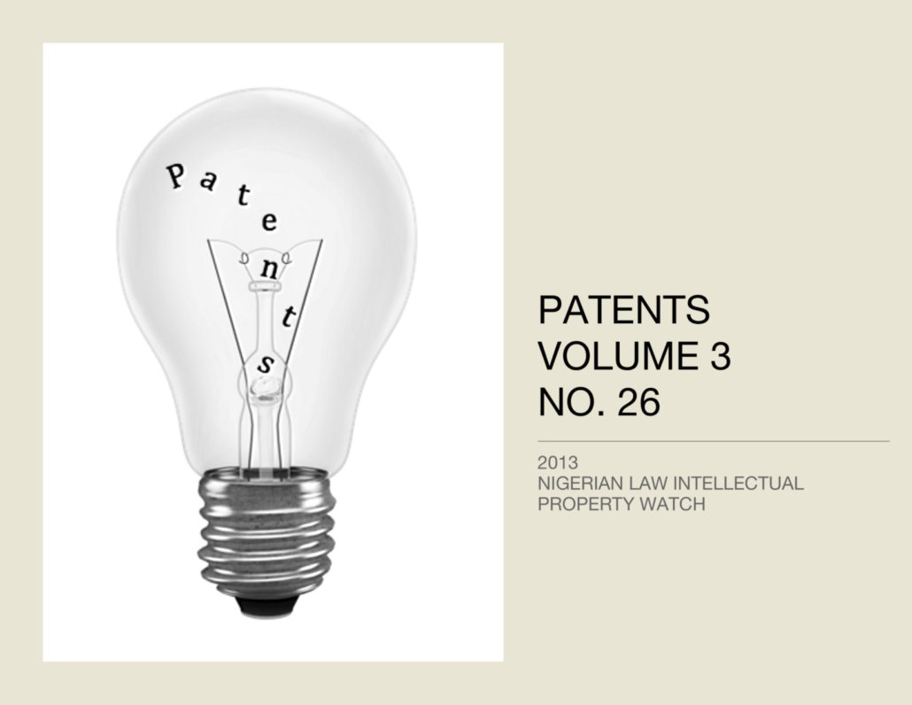 PATENTS VOL. 3 NO. 26