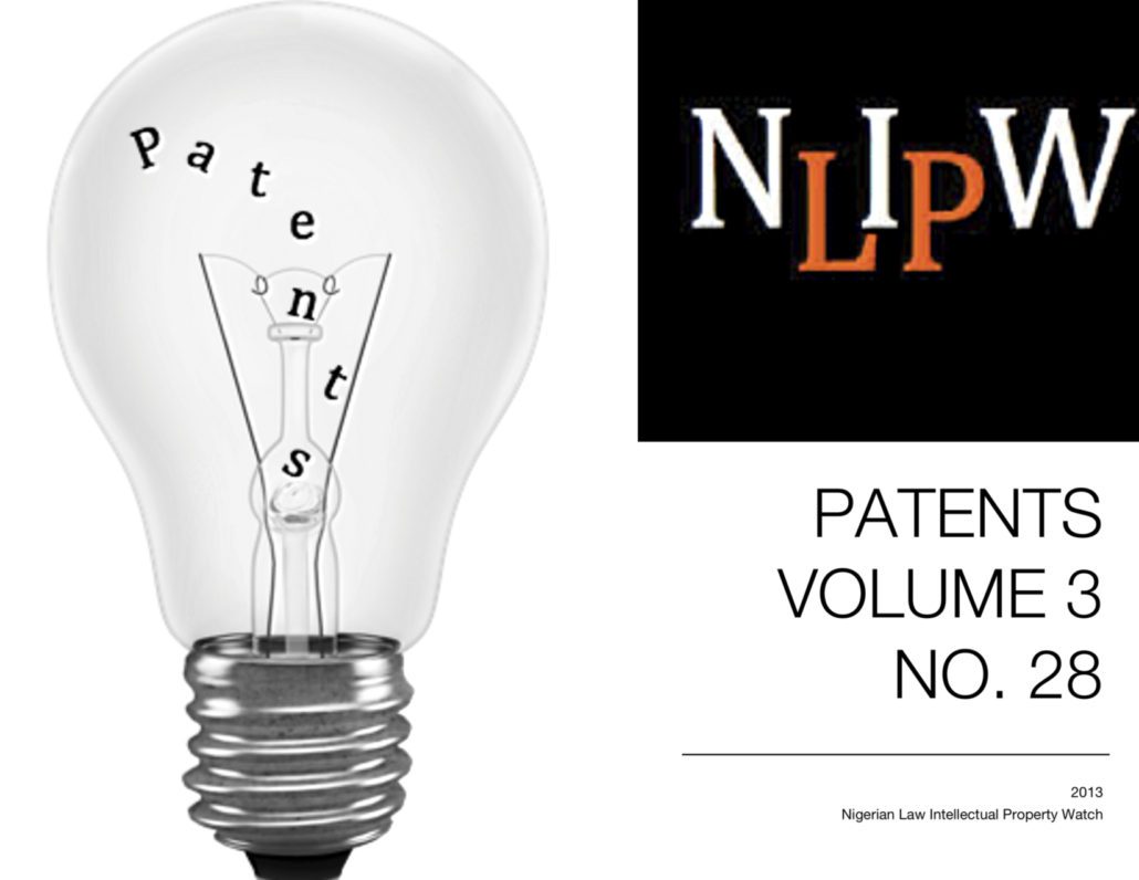 PATENTS VOL. 3 NO. 28