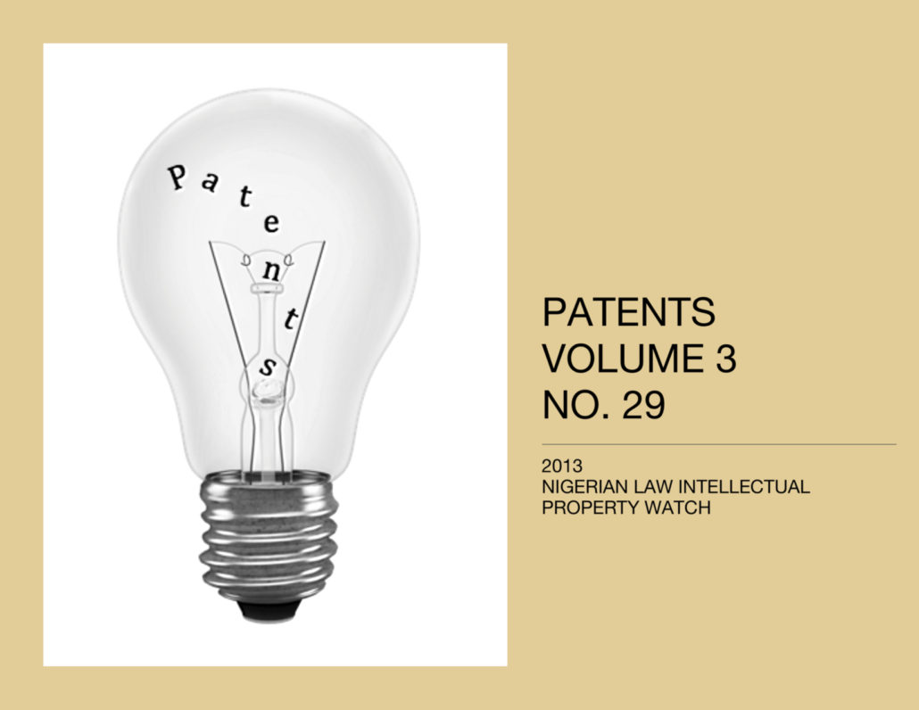 PATENTS VOL. 3 NO. 29