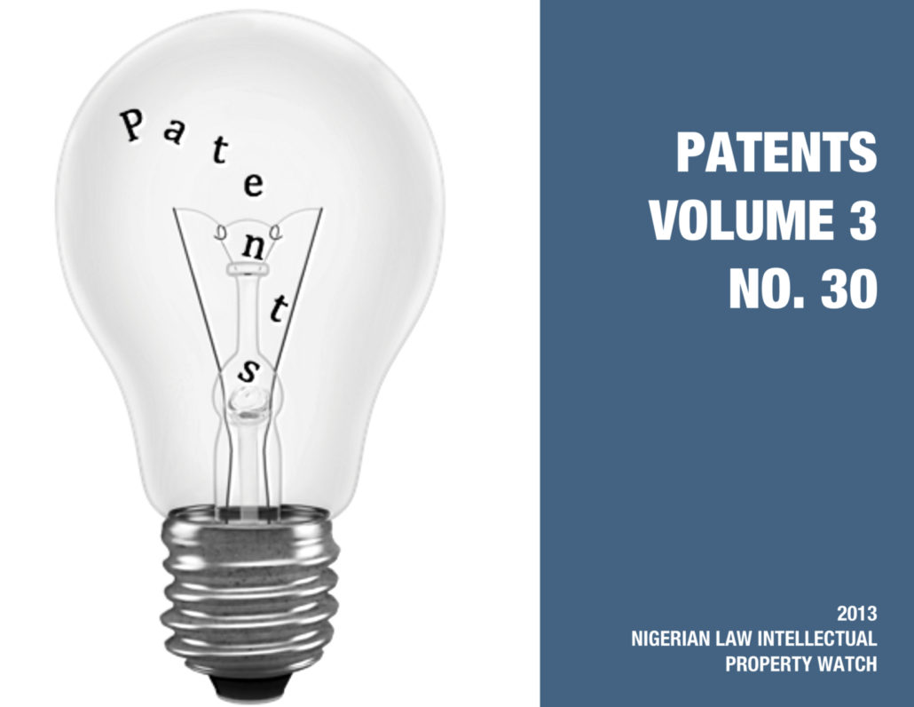 PATENTS VOL. 3 NO. 30