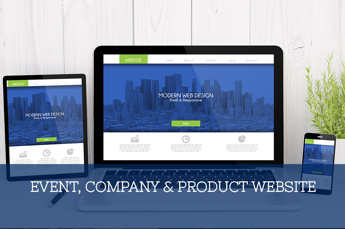 Event, Company & Product Websites