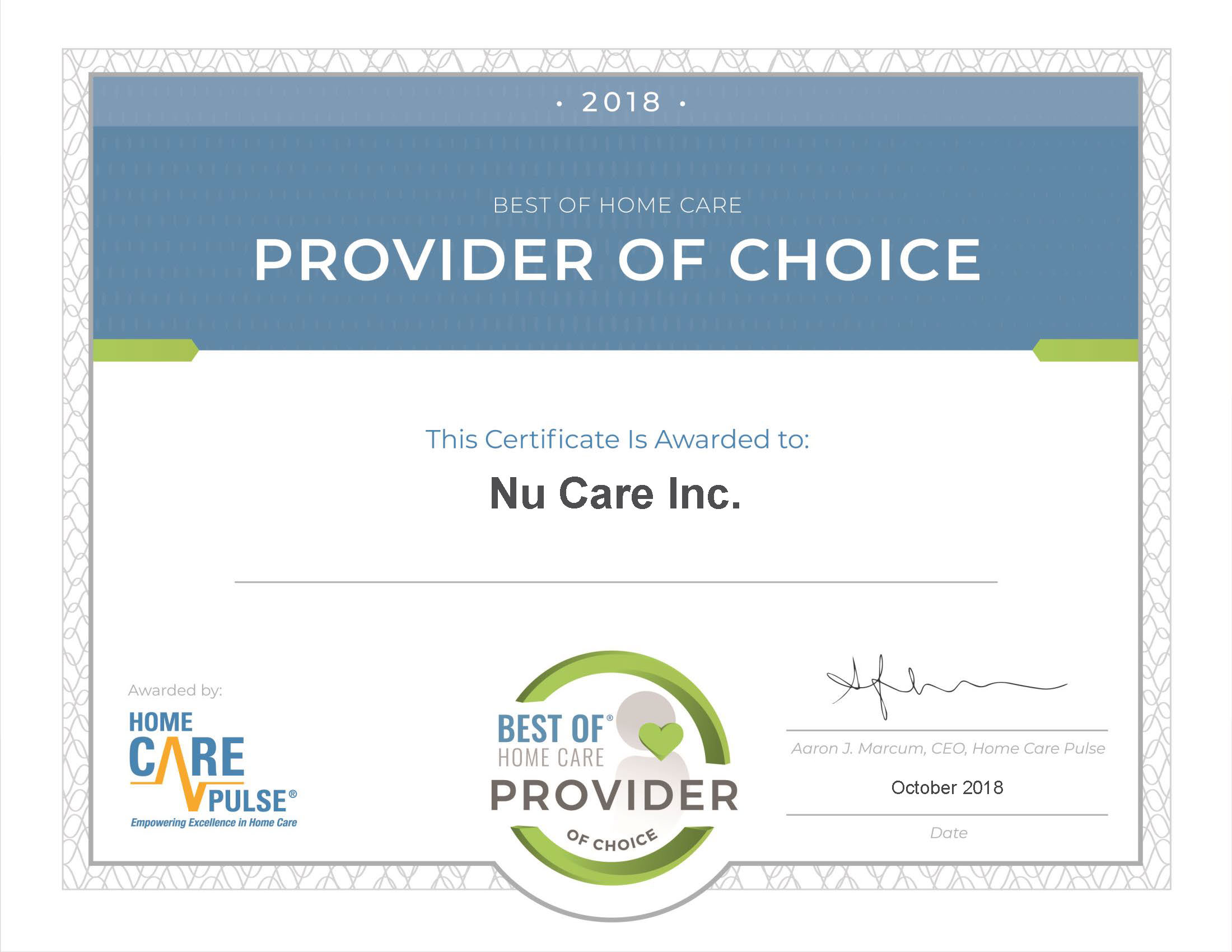 POC Nu Care Inc