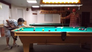 Father and Son Billiard Time!