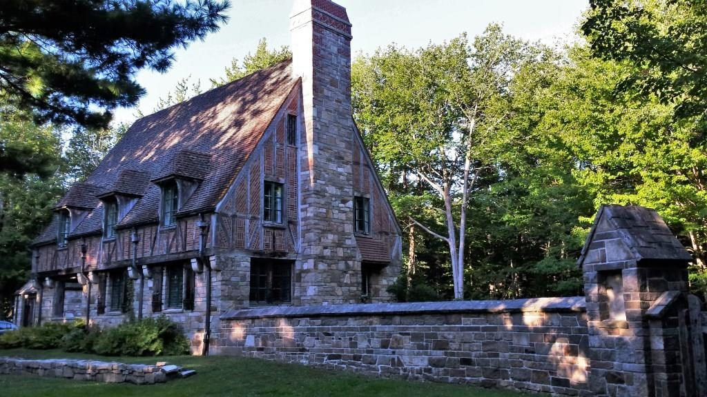 One of two gate lodges in Acadia National Park built by the Rockefeller family