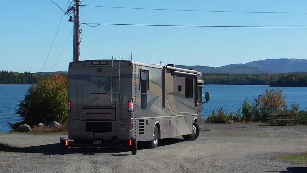 Our campground was located on the shores of Mt. Desert Narrows.