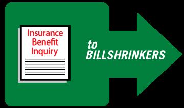 """""""Send Insurance Benefit Inquiry to Billshrinkers"""" Graphic"""