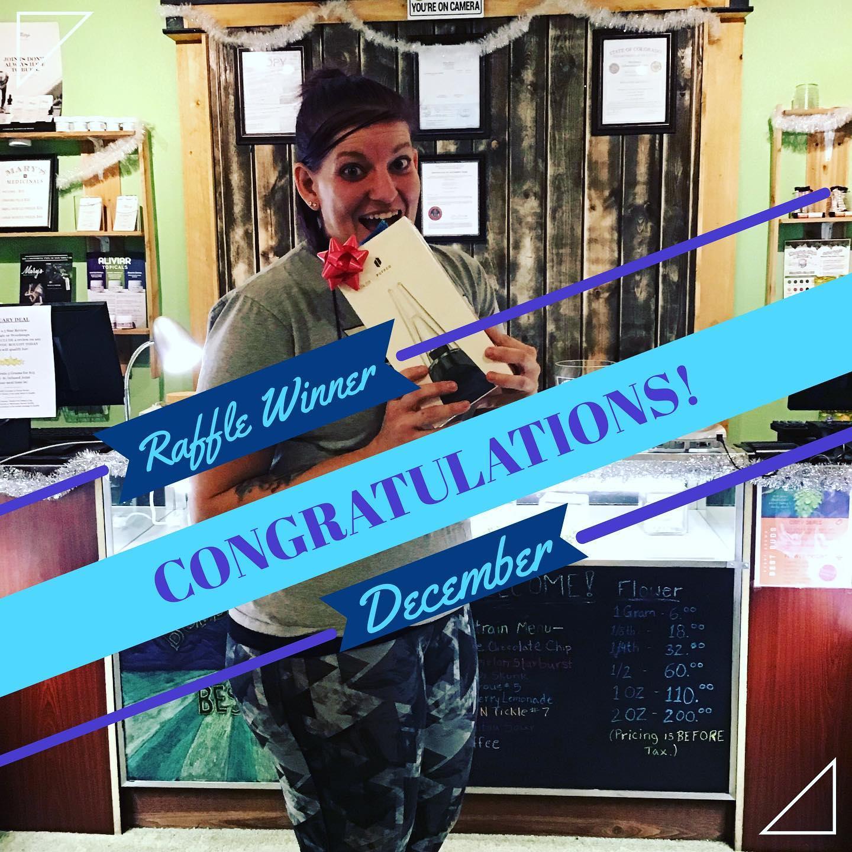 Congratulations to our December #raffle winner