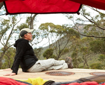 Camping along supported sites the Grampians Peaks Trail.