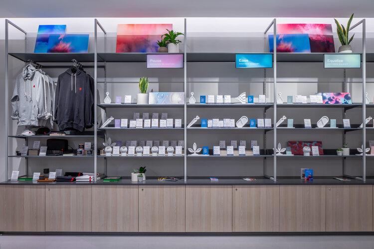 Tokyo Smoke product display shelfing