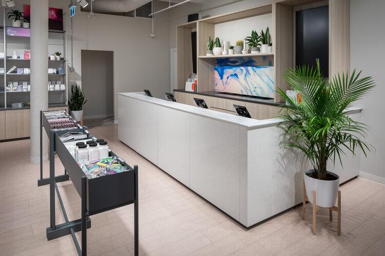 Tokyo Smoke interior service desk
