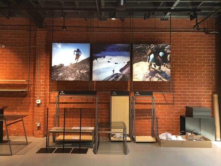 Arc'Teryx interior store display construction