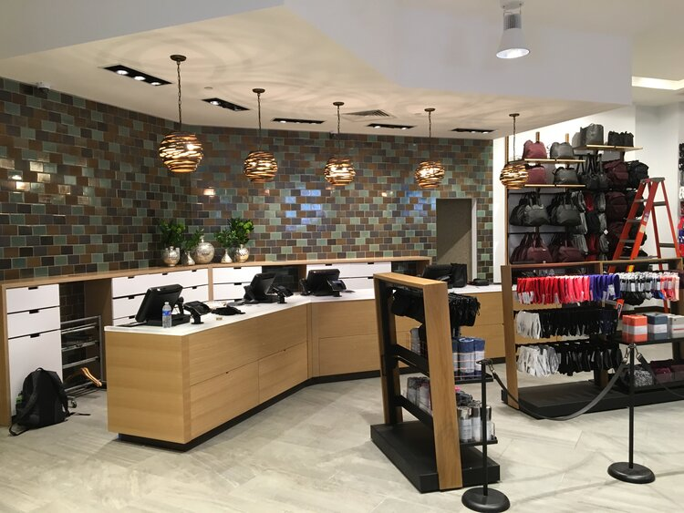 lululemon athletica interior service desk